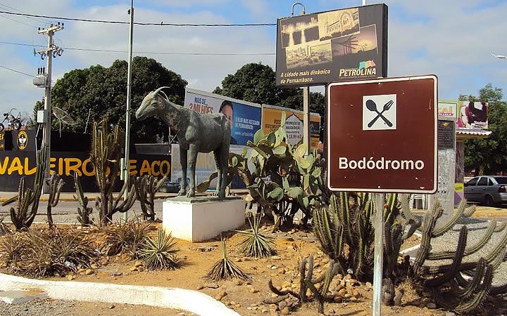 Placa de Bodódromo em Petrolina