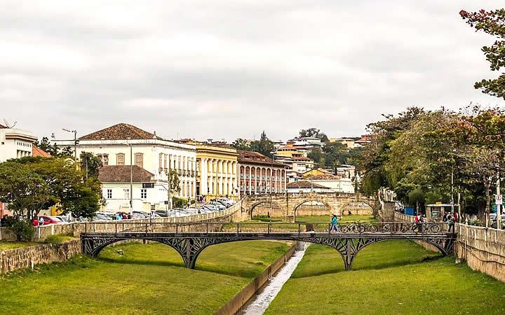 Pontes no centro de São João Del Rei