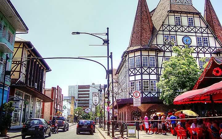 Rua do Centro de Blumenau