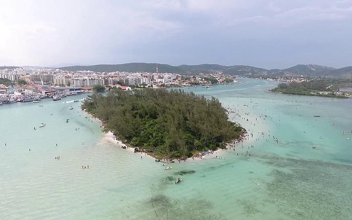 Ilha do Japonês - Visão de um drone
