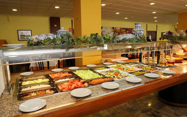 Opções de comida do restaurante