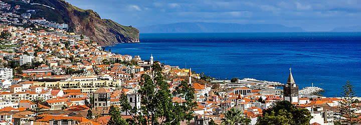 Vista aérea da Ilha da Madeira em Portugal