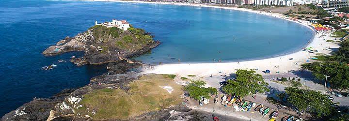 Vista aérea da Praia do Forte em Cabo Frio