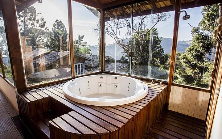 Banheira da pousada Villa Catarina