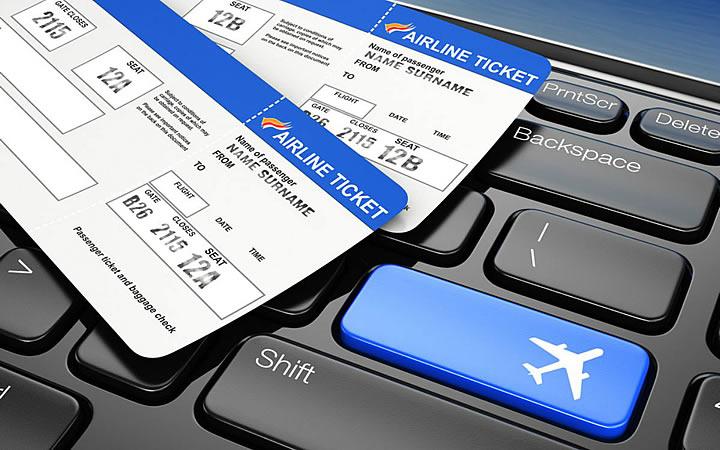 Teclado com ticket de Check in online