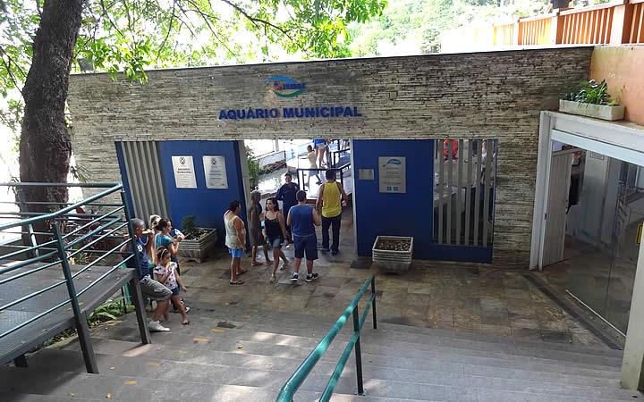 Entrada do Aquário Municipal de Piracicaba