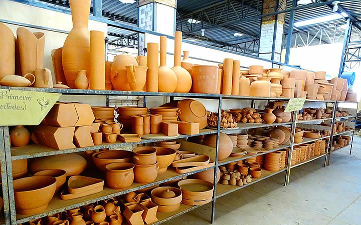 Objetos na Fábrica de cerâmica em Serra da Capivara