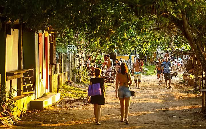 Pôr do sul em Caraíva