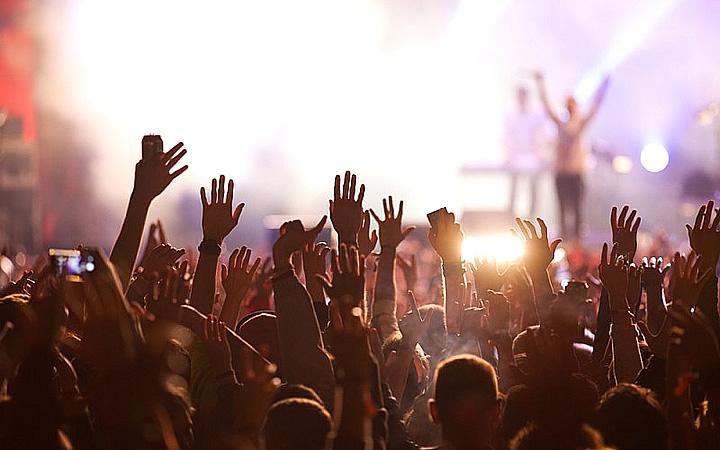Pessoas no show do Lollapalooza