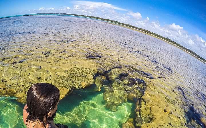 Piscina natural com Corais em São Miguel dos Milagres