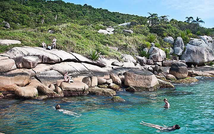 Piscina natural em Barra da Lagoa – Santa Catarina