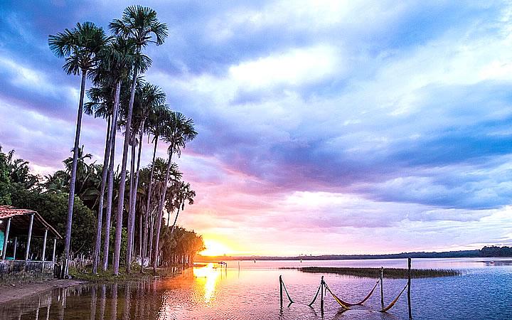 Por do sol na Lagoa do Cassó