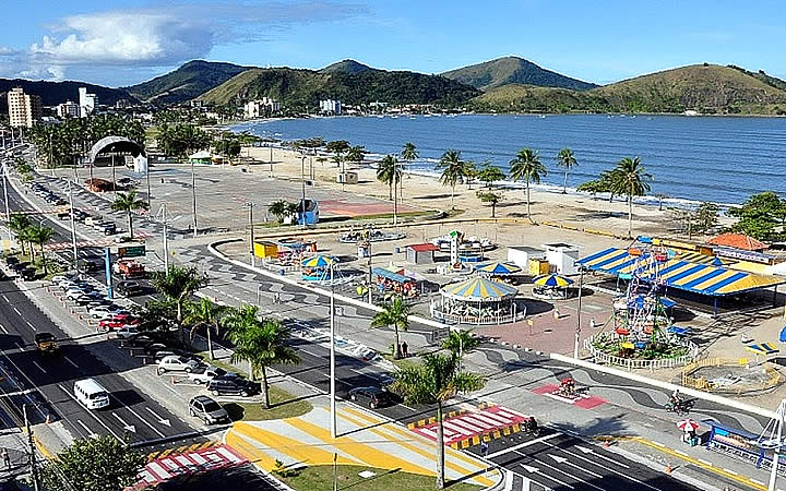 Praia do Centro em Caraguatatuba