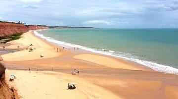 Praia em Prado no Sul da Bahia