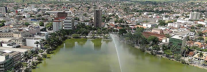 Visão aérea do centro de Sete Lagoas MG