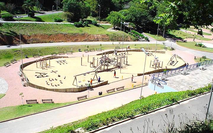 Vista aérea do Parque Getúlio Vargas