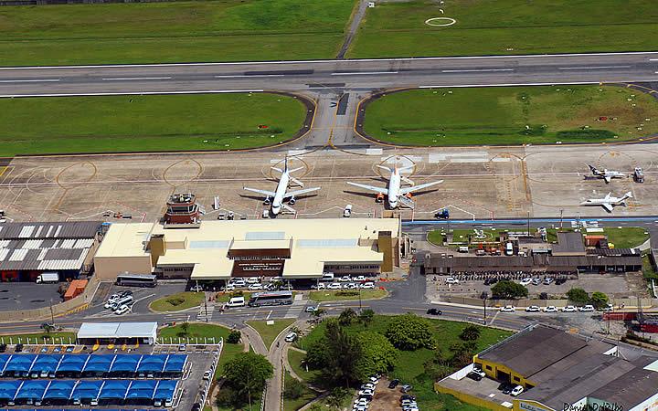 Vista aérea do aeroporto de Pomerode