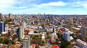 Vista aérea do centro de Caxias do Sul