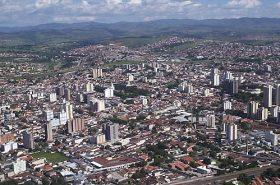 Vista aérea do centro de Taubaté