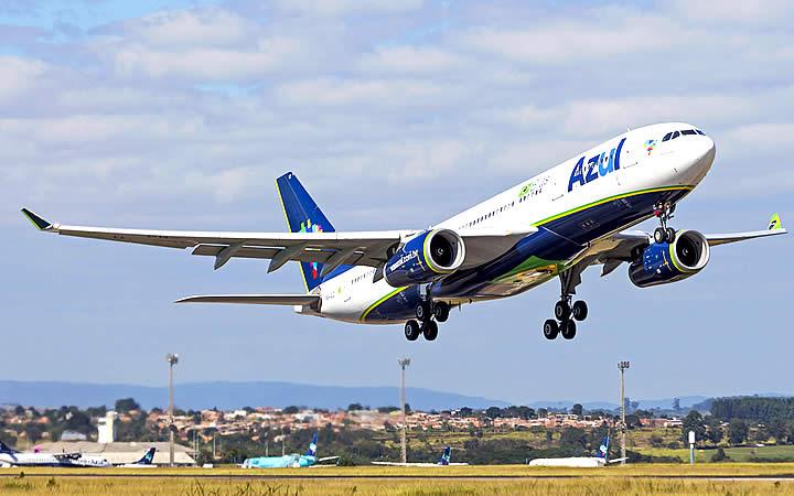 Aeronave da companhia Azul