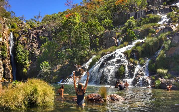 Cachoeira Santa Bárbara - Cavalcante