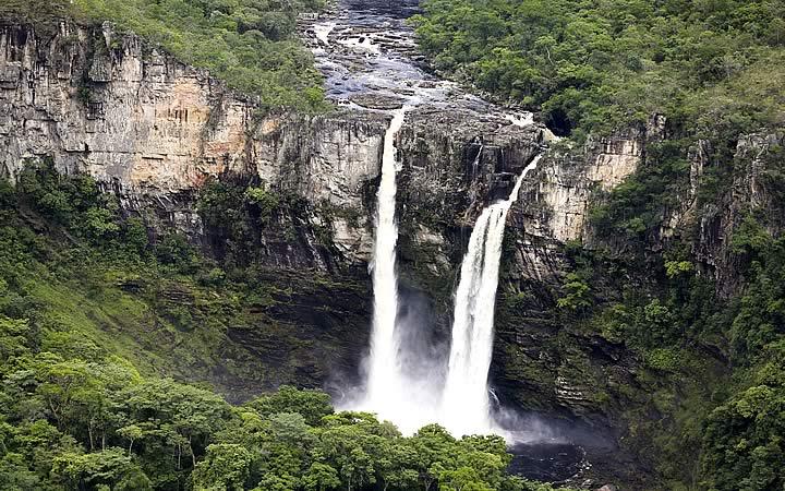 Cachoeira do Parques nacionais da Chapada dos Veadeiros