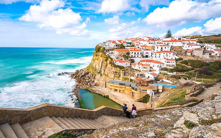 Casas próximas ao mar em Portugal