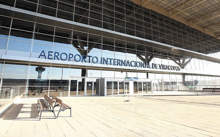 Fachada do aeroporto Internacional de Viracorpos