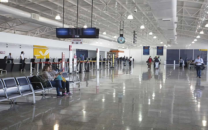 Interior do aeroporto