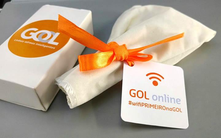 Kit wifi da companhia aérea GOL
