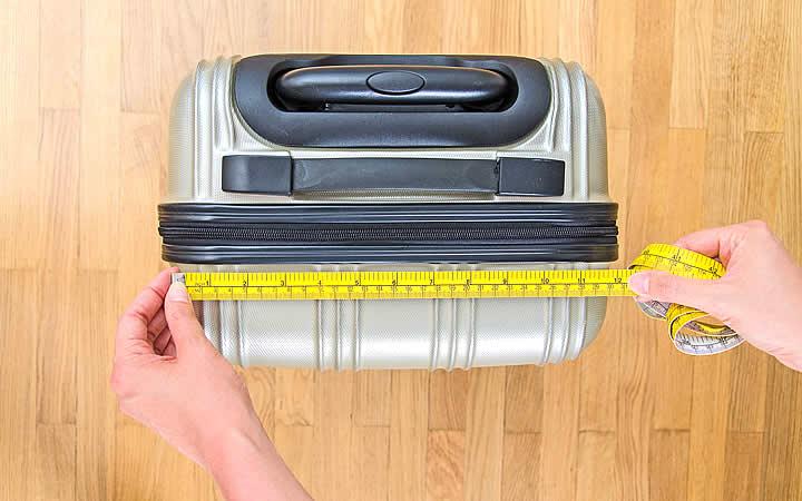Medindo a bagagem de mão