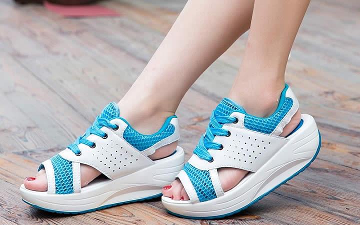 Sapato confortável e fresco