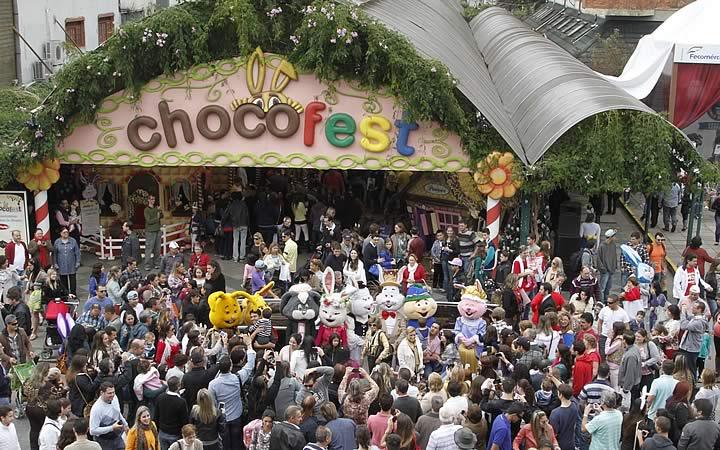 Vista aérea da Chocofest