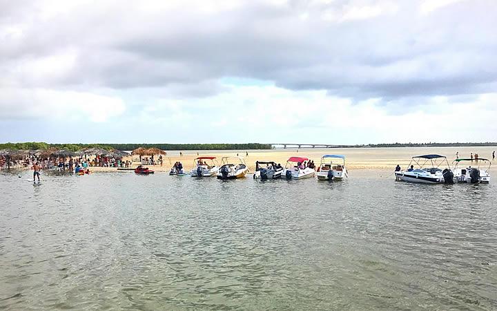 Barcos na Croa do Goré