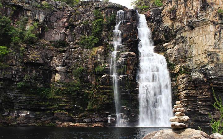 Cachoeira na Trilha dos Saltos