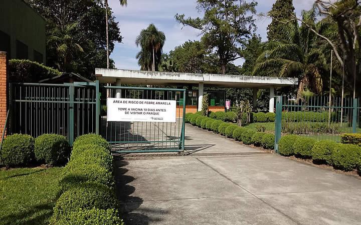 Entrada do Jardim Botânico - SP