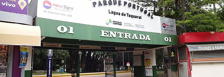 Entrada do Parque Portugal - Lagoa do Taquaral
