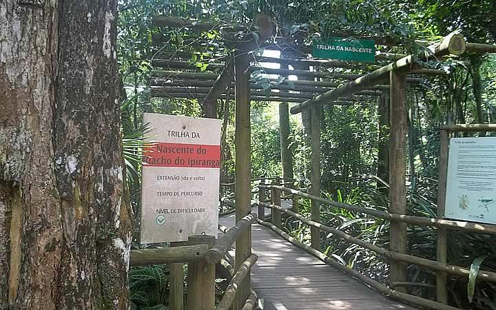 Entrada para Trilha da Nascente do Riacho Ipiranga
