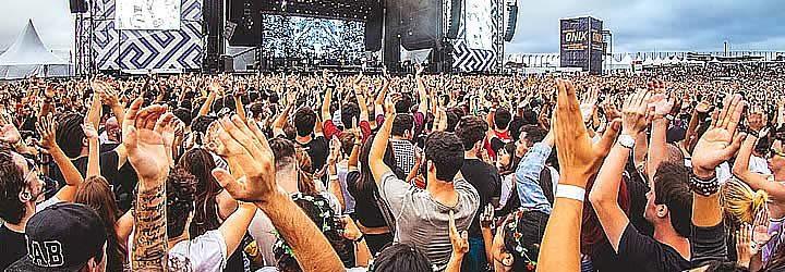 Pessoas no festival Lolapalooza