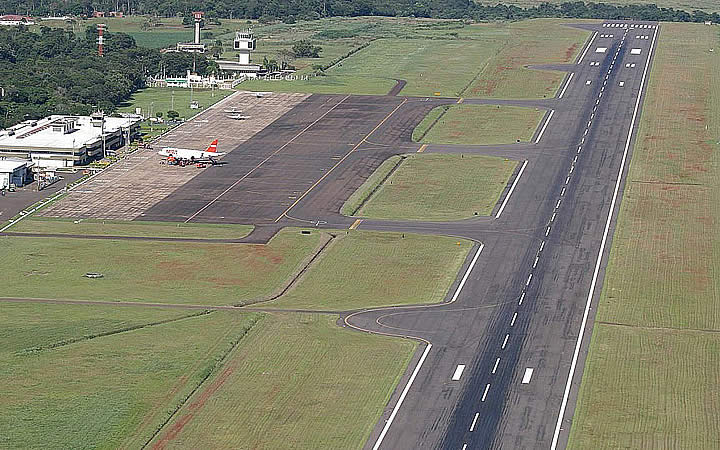 Pista de pouso do aeroporto de foz do iguaçu