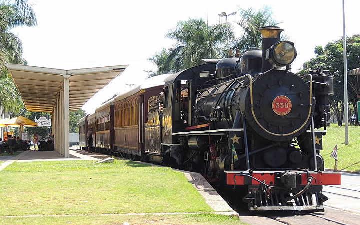 Trem Maria Fumaça em Campinas a Jaguariúna