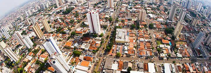 Visão aérea de Campo Grande