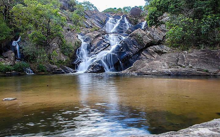 Cachoeira no Parque estadual dos Pirineus - Cocalzinho de Goiás - Cidades próximas a Brasília