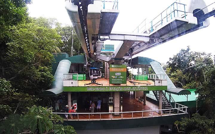 Estação dos bondinhos no Parque Unipraias