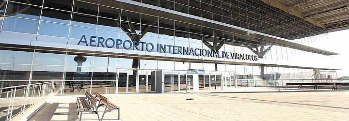 Fachada do aeroporto internacional de Viracopos