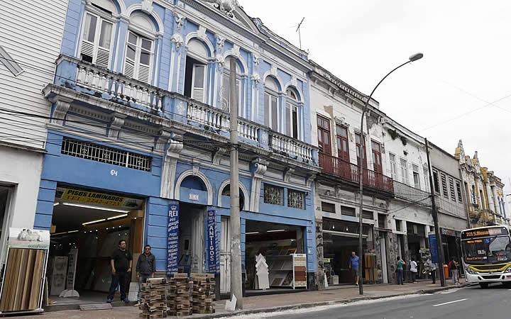 Prédios no Corredor Cultural do Rio
