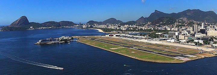 Vista aérea do Aeroporto Santos Dumont