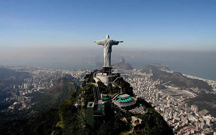 Vista aérea do Cristo Redentor