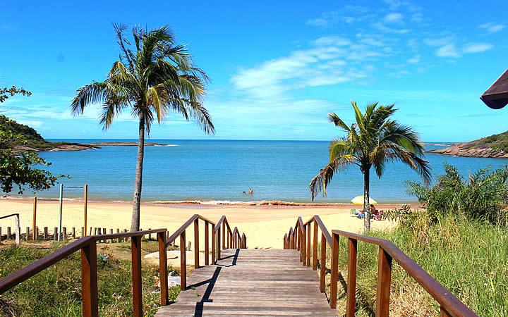 Praia em Guarapari