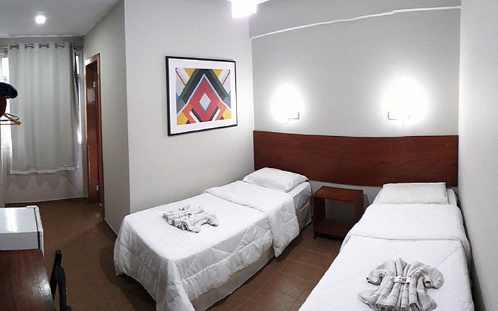 Quarto de solteiro no Hotel Recanto Europeu